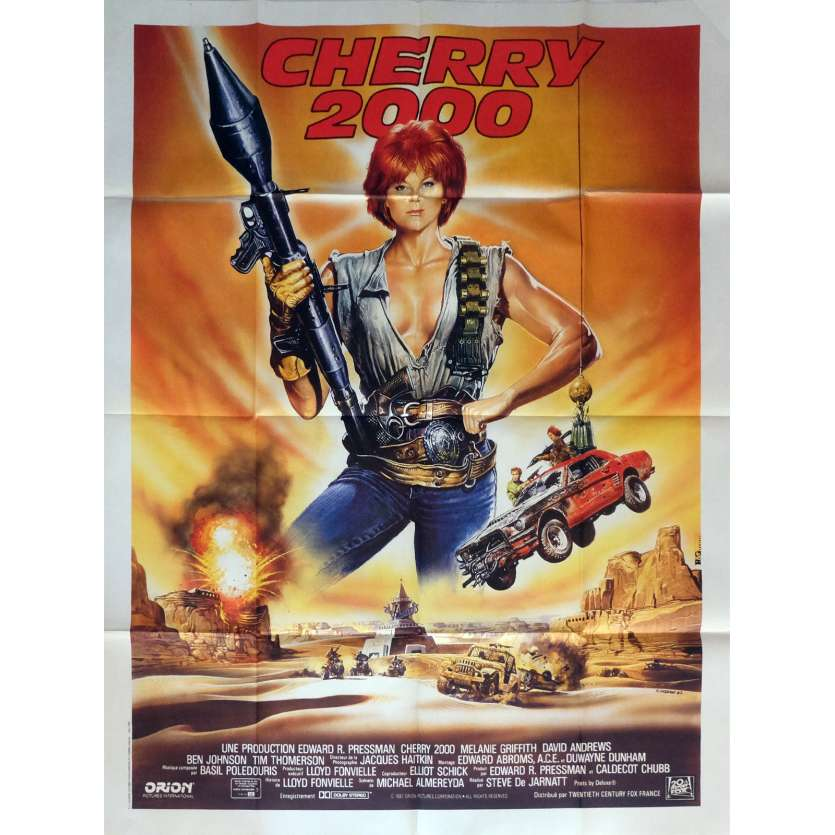 CHERRY 2000 Movie Poster 47x63 in. French - 1987 - Steve De Jarnatt, Melanie Griffith
