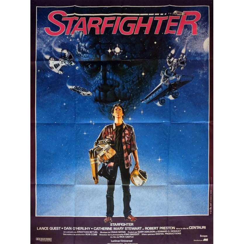 THE LAST STARFIGHTER Movie Poster 47x63 in. French - 1984 - Nick Castle, Lance Guest