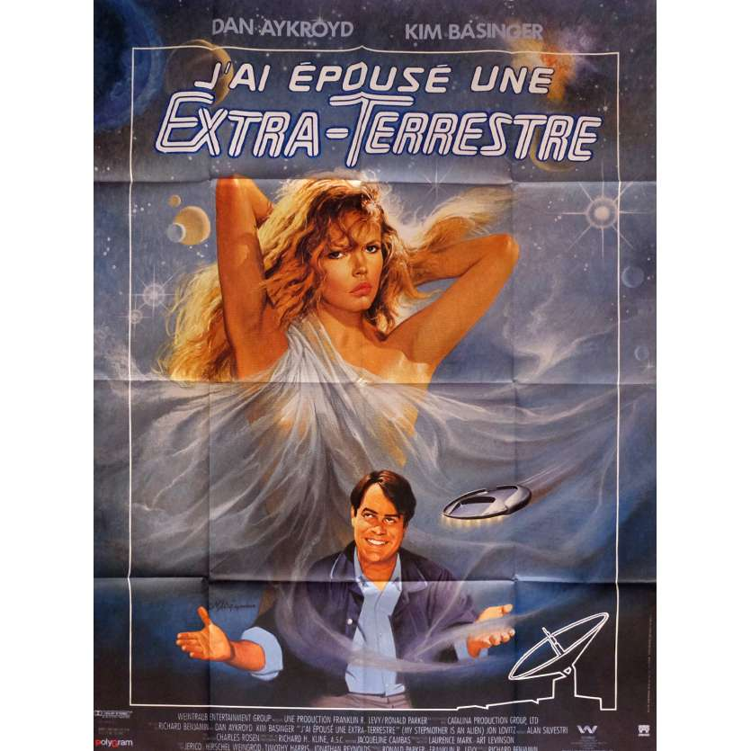 MY STEPMOTHER IS AN ALIEN Movie Poster 47x63 in. French - 1988 - Richard Nenjamin, Dan Aycroyd
