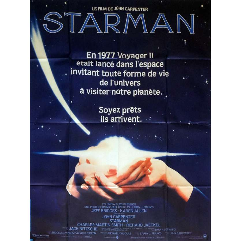STARMAN Affiche de film 120x160 cm - 1984 - Jeff Bridges, John Carpenter