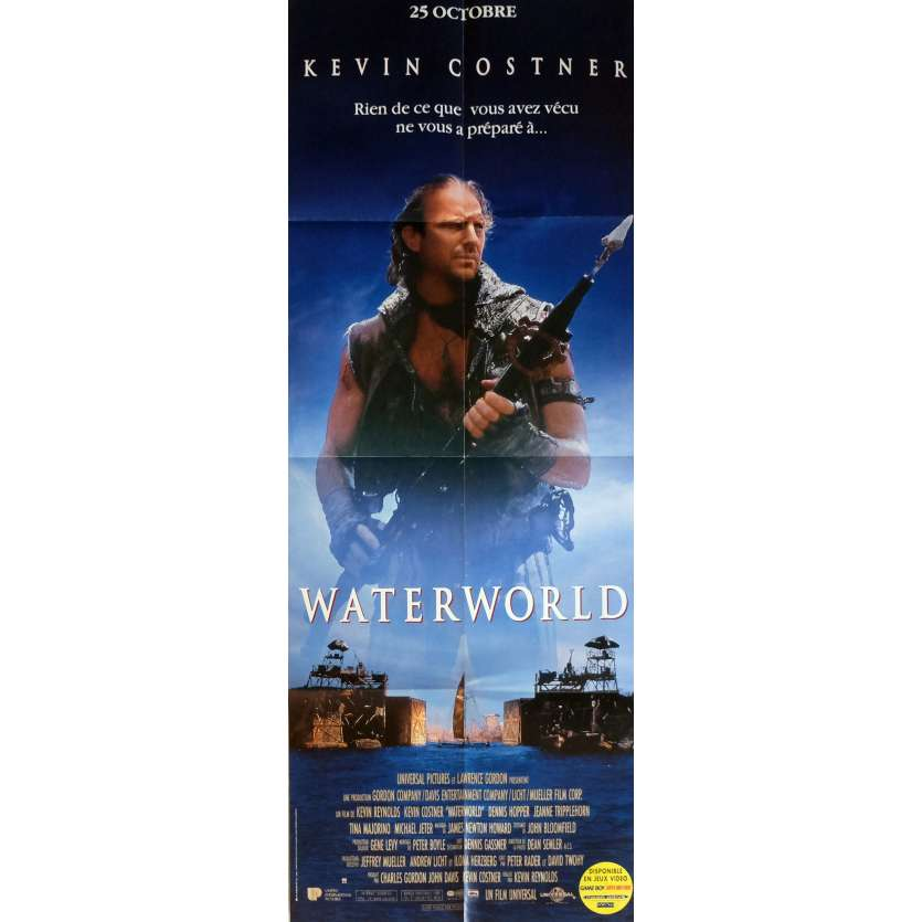WATERWORLD Movie Poster 23x63 in. French - 1995 - Kevin Reynolds, Kevin Costner