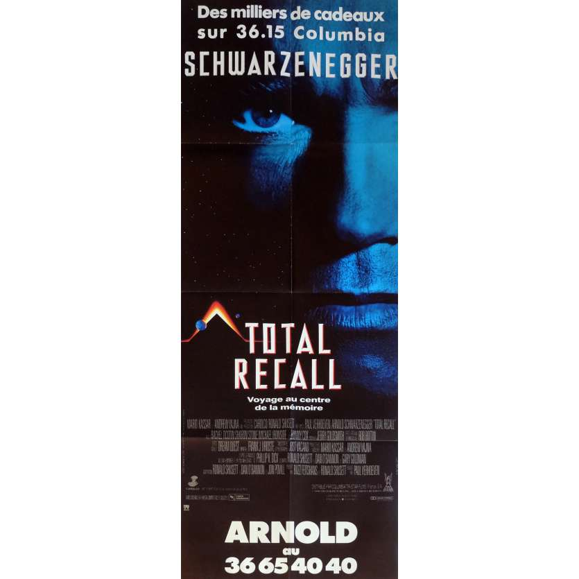 TOTAL RECALL Movie Poster 23x63 in. French - 1990 - Paul Verhoeven, Arnold Schwarzenegger