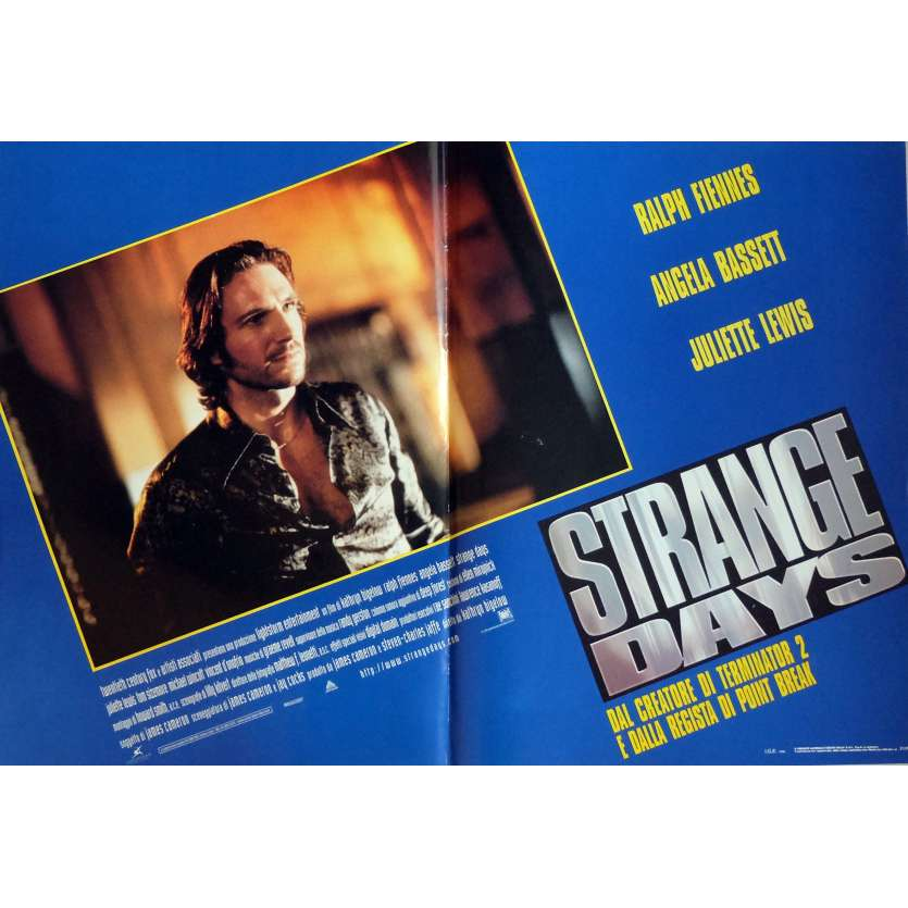 STRANGE DAYS Photobusta Poster N3 18x26 in. Italian - 1995 - Kathryn Bigelow, Ralph Fiennes