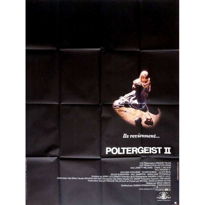 POLTERGEIST II French Movie Poster 47x63 '86 Heather O'Rourke, Original