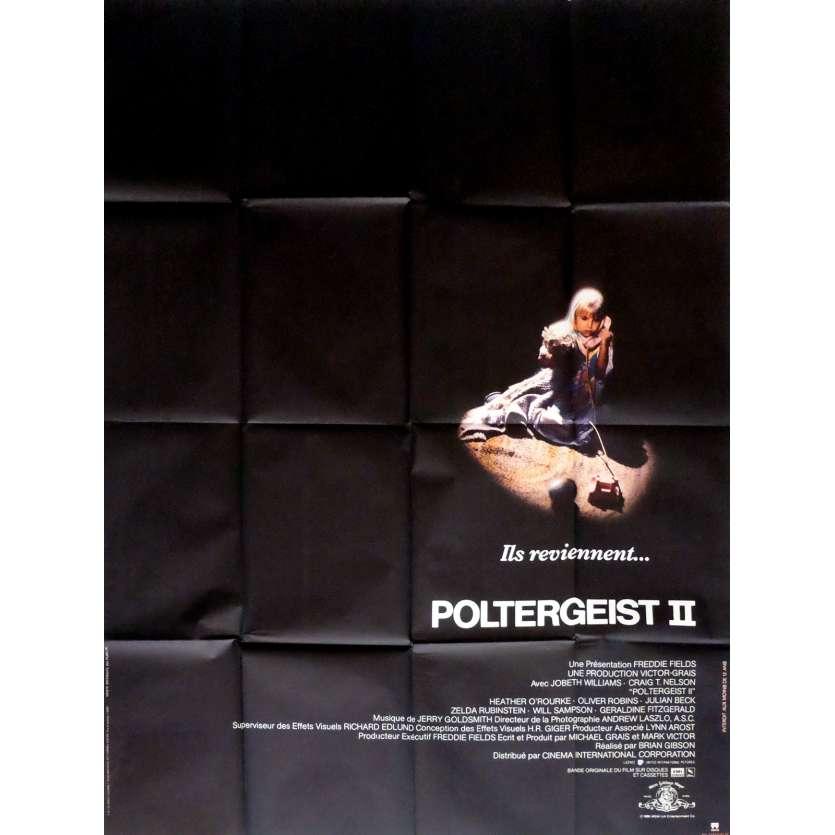 POLTERGEIST II French Movie Poster 47x63 '86 Heather O'Rourke, Original