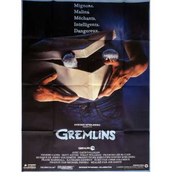 GREMLINS Affiche de film 120x160 cm - 1984 - Zach Galligan, Joe Dante