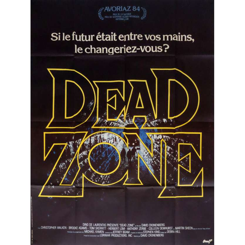 DEAD ZONE Affiche de film 120x160 - 1983 - Christopher Walken, David Cronenberg
