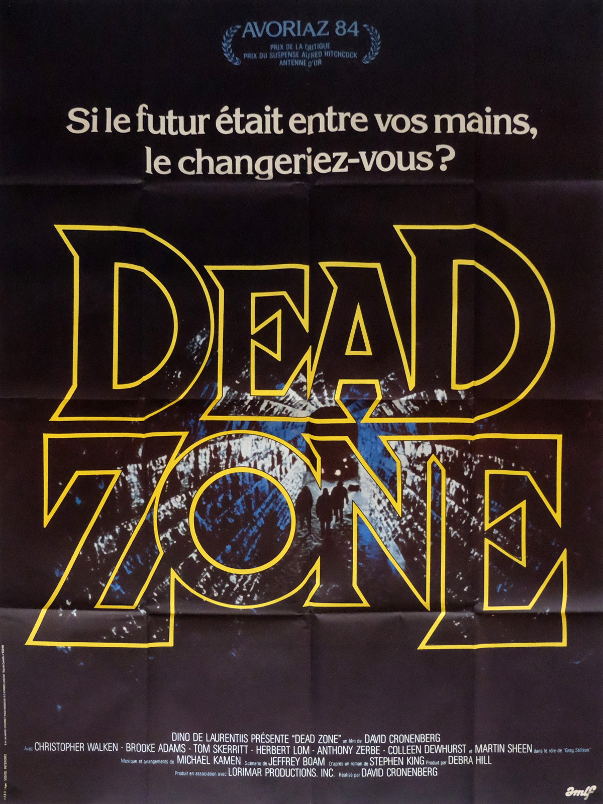 DEAD ZONE French Movie Poster 47x63 - 1983 - David Cronenberg, Christopher  Walken