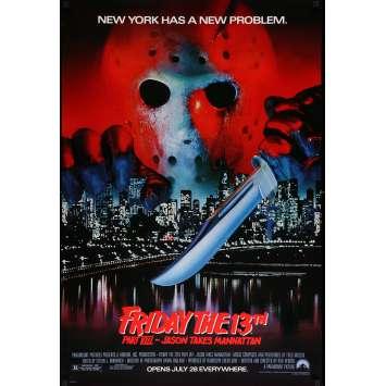 Friday THE 13TH PART VIII Movie Poster 29x41 in. USA - 1989 - Rob Hedden, Jensen Daggett