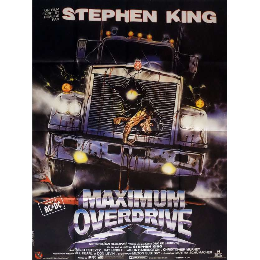 MAXIMUM OVERDRIVE Affiche de film 120x160 cm - 1986 - Emilio Estevez, Stephen King