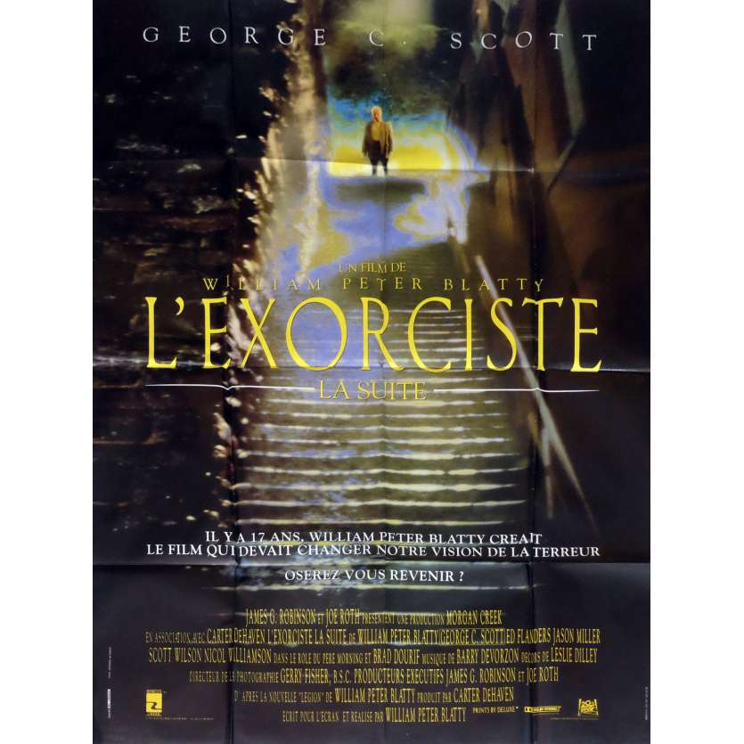 THE EXORCIST III Movie Poster 47x63 in. French - 1990 - William Peter Blatty, Brad Dourif