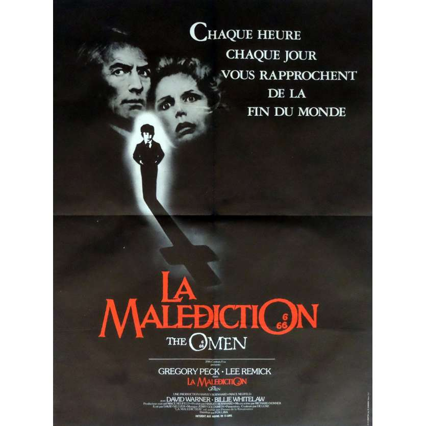 THE OMEN Movie Poster 23x32 in. French - 1979 - Richard Donner, Gregory Peck