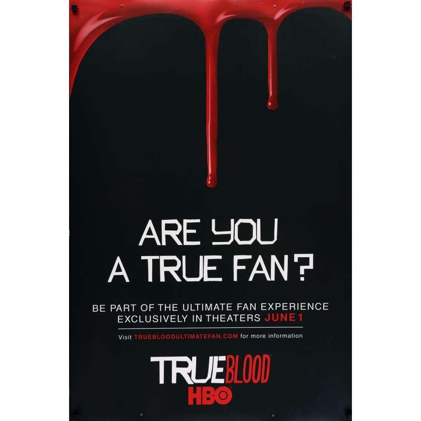 TRUE BLOOD Affiche de film 69x104 cm - 2008 - Anna Paquin, Alan Ball