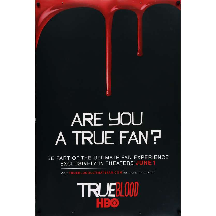 TRUE BLOOD Movie Poster 29x41 in. USA - 2008 - Alan Ball, Anna Paquin