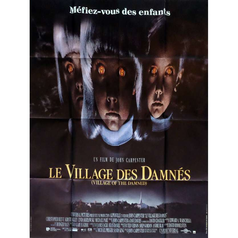 LE VILLAGE DES DAMNES Affiche de film 120x160 cm - 1995 - Christopher Reeve, John Carpenter