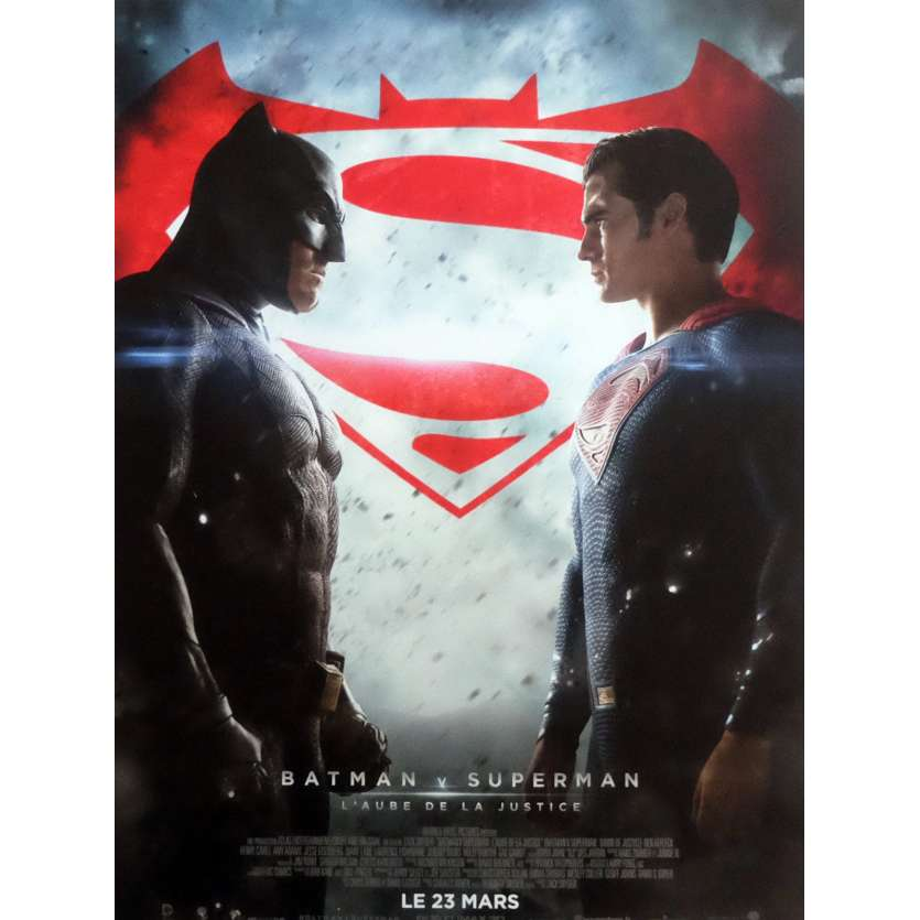BATMAN VS SUPERMAN Movie Poster Def. 15x21 in. - 2016 - Zack Snyder, Ben Affleck