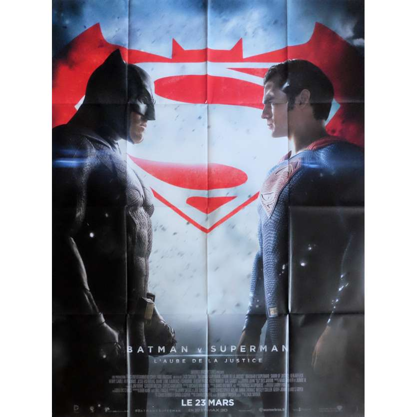 BATMAN VS SUPERMAN Affiche de film Def. 120x160 cm - 2016 - Ben Affleck, Zack Snyder