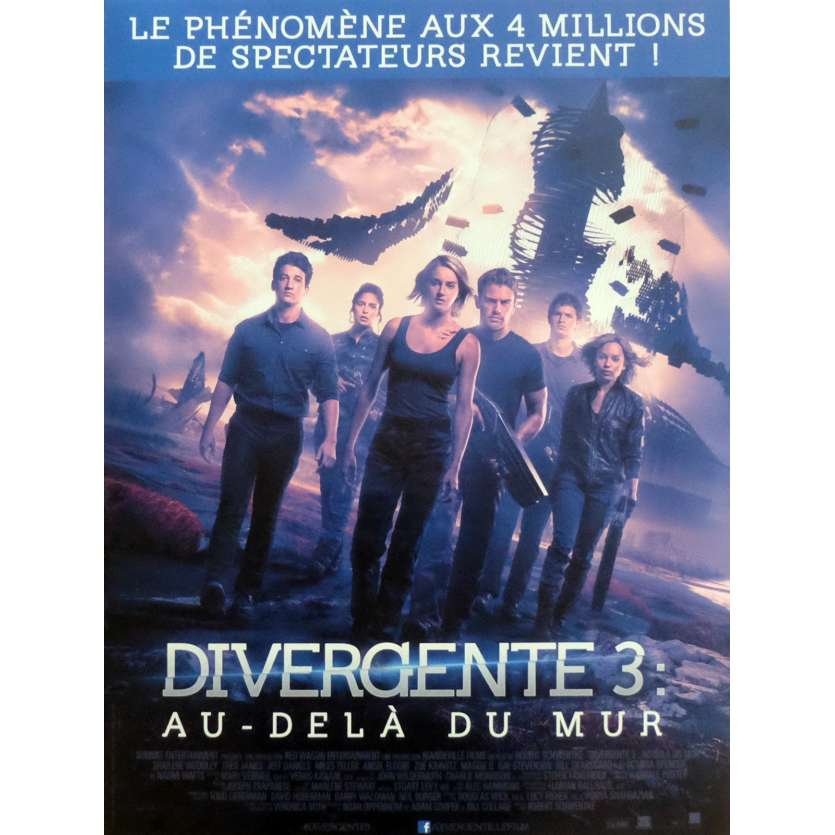 DIVERGENTE 3 Movie Poster 15x21 in. - 2016 - Robert Schwentke, Shailene Woodley