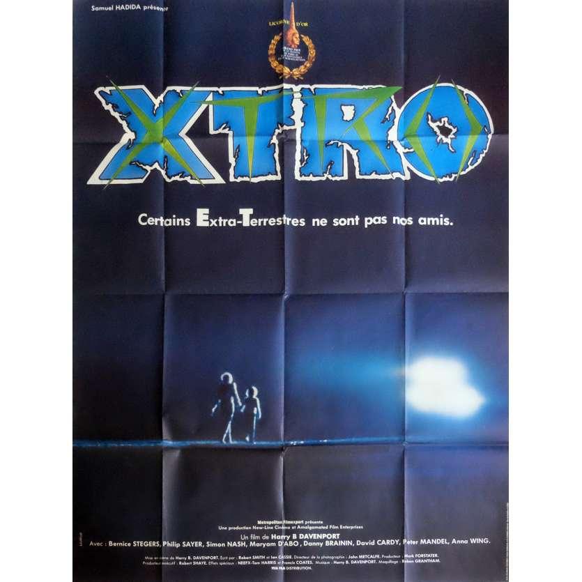 XTRO Affiche de film 120x160 cm - 1982 - Philip Sayer, Harry Bromley Davenport