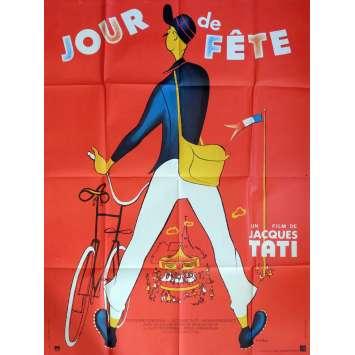 JOUR DE FETE Affiche 120x160 FR R73 Jaques Tati