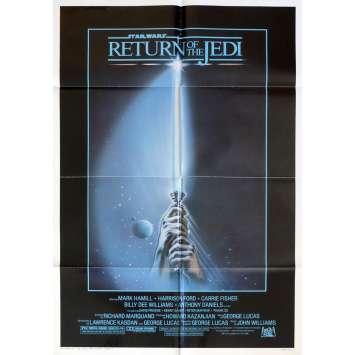 STAR WARS - LE RETOUR DU JEDI Affiche de film Lightsaber 69x104 - 1983 - Harrison Ford, Richard Marquand
