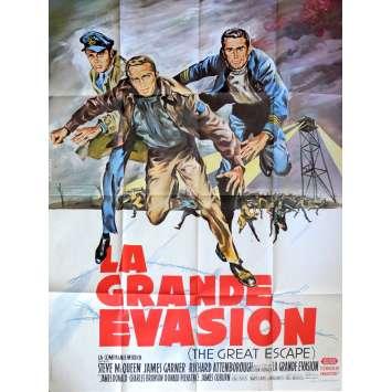 LA GRANDE EVASION Affiche de film 120x160 cm - 1963 - Steve McQueen, John Sturges