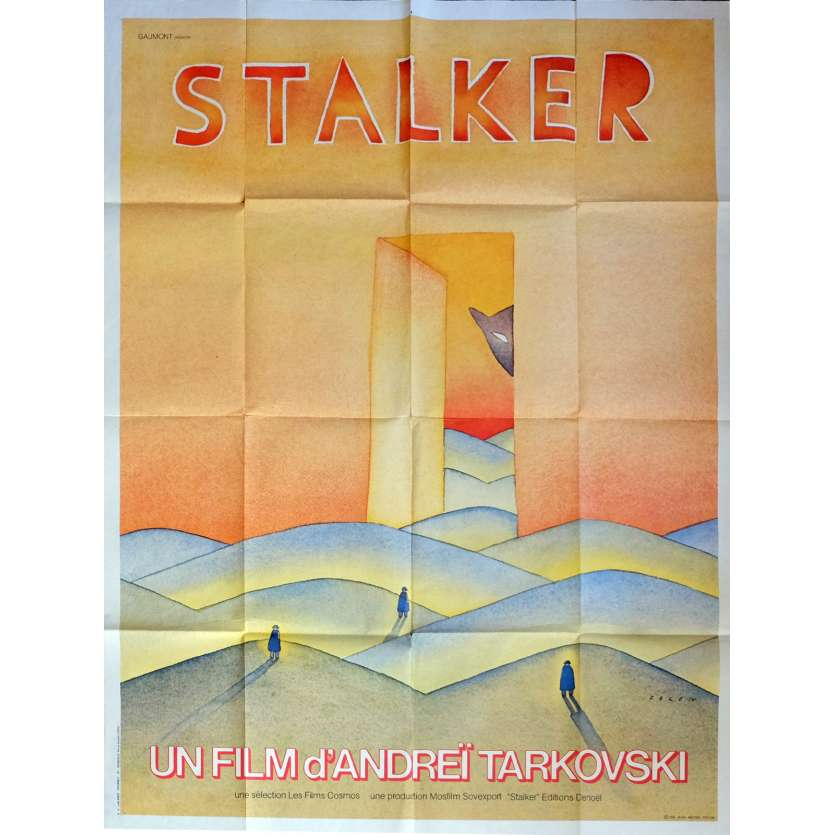 STALKER Affiche de film 120x160 cm - 1979 - Alexandre Kaïdanovski, Andreï Tarkovski