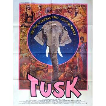 TUSK Movie Poster 47x63 in. - 1980 - Alejandro Jodorowsky, Cyrielle Clair
