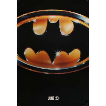 "BATMAN Affiche rare ""Matte"" US '89 Jack Nicholson, Tim Burton Movie Poster"