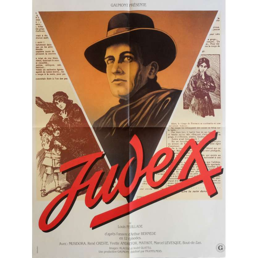 JUDEX Movie Poster 23x32 in. - 1970 - Georges Franju, Channing Pollock