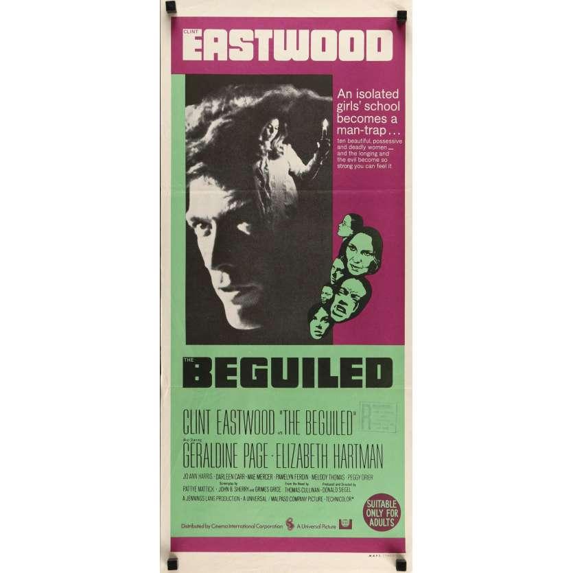 LES PROIES Affiche de film 33x71 cm - 1971 - Clint Eastwood, Don Siegel