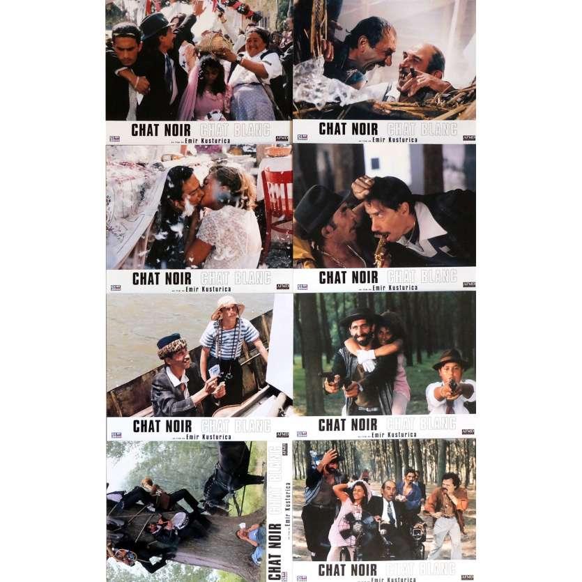 BLACK CAT WHITE CAT Lobby Cards 9x12 in. - 1998 - Emir Kusturica, Bajram Severdzan