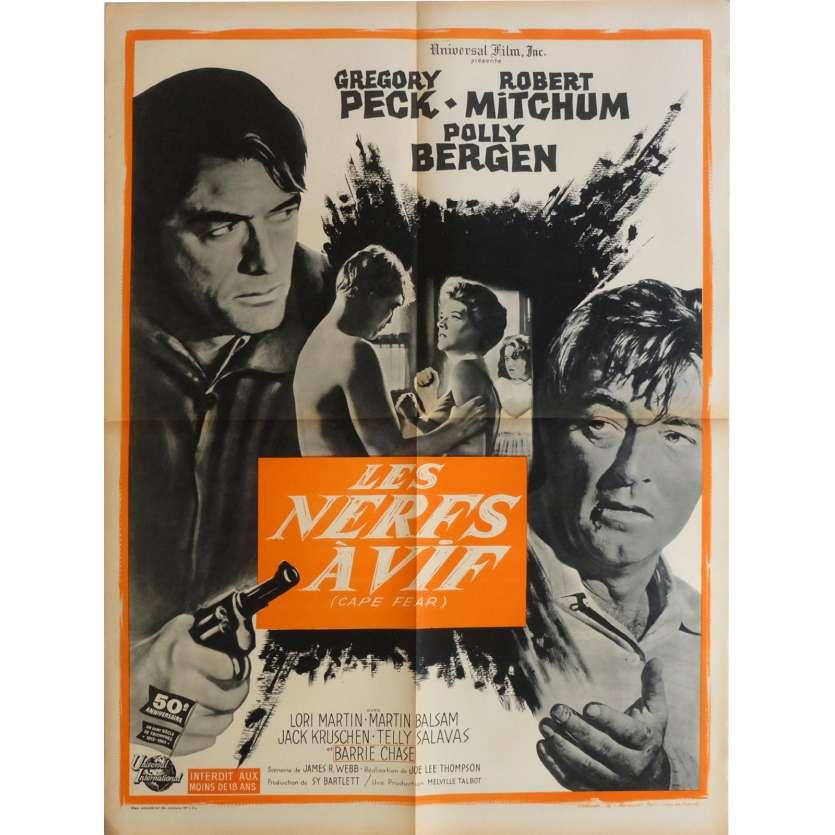 LES NERFS A VIFS Robert Mitchum Affiche du film FR 1962 Polar