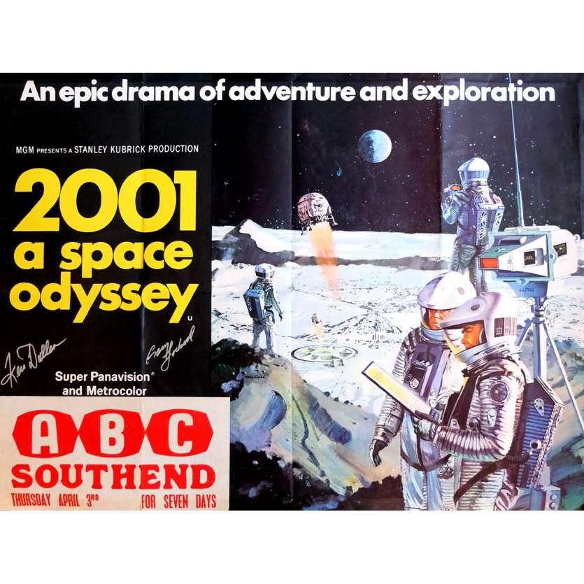 2001 L'ODYSSEE DE L'ESPACE Affiche signée 72x104 cm - 1968 - Keir Dullea, Stanley Kubrick