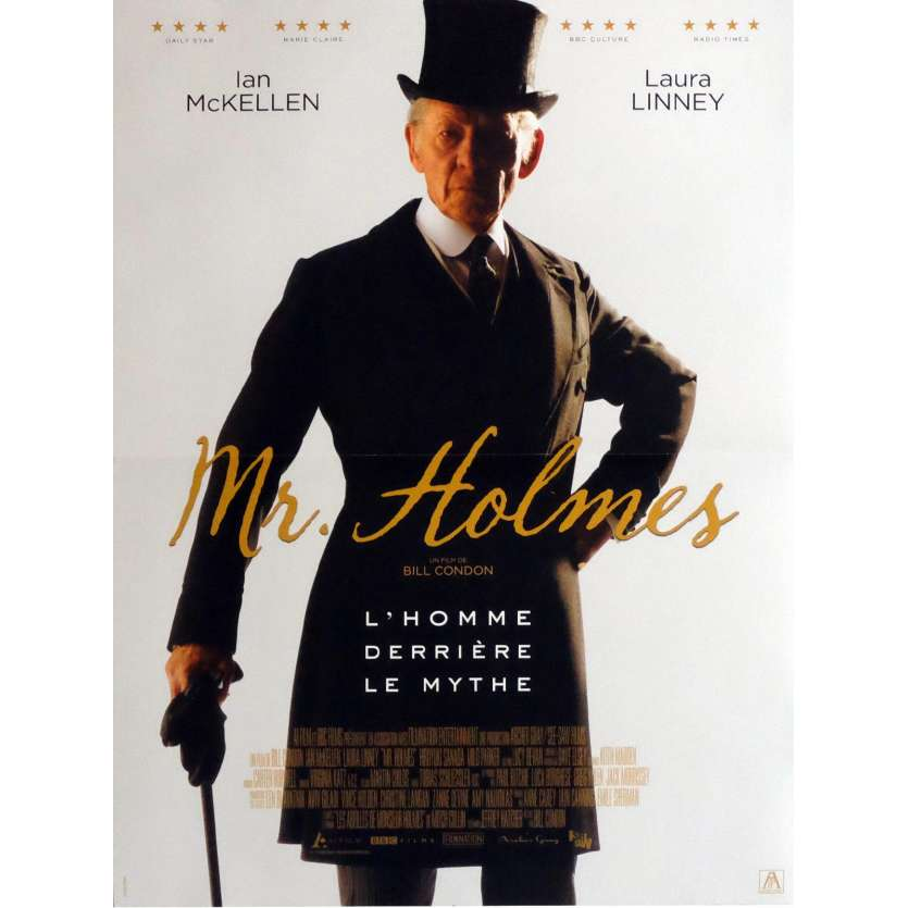 MR. HOLMES Affiche de film 40x60 cm - 2016 - Ian McKellen, Bill Condon