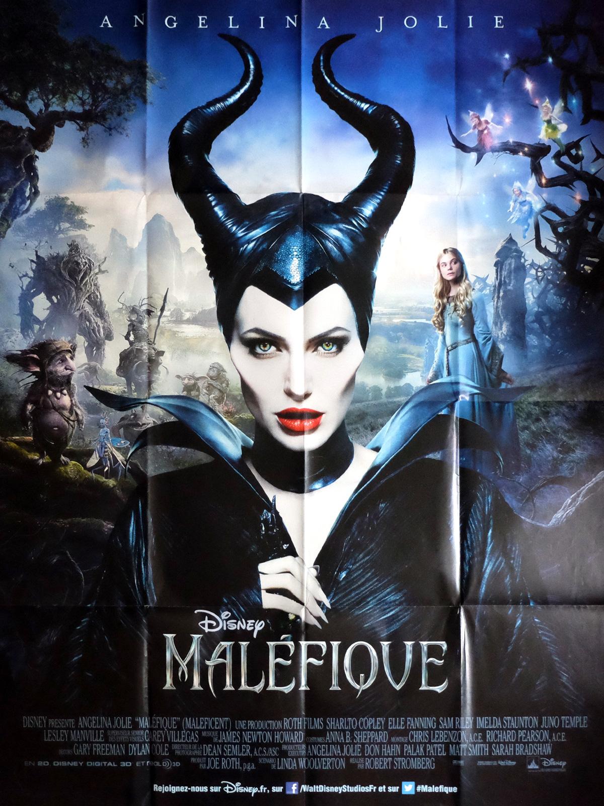 Maleficent Movie Poster 47x63 In 2014 Robert Stromberg Angelina Jolie