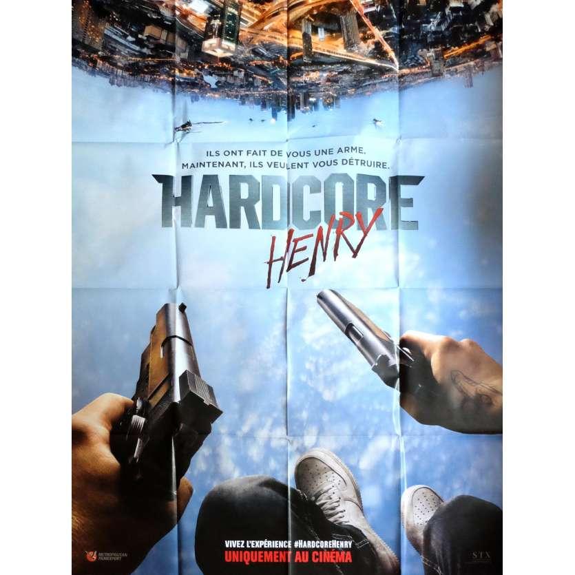 HARDCORE HENRY Affiche de film 120x160 cm - 2016 - Eli Roth, Ilya Naishuller
