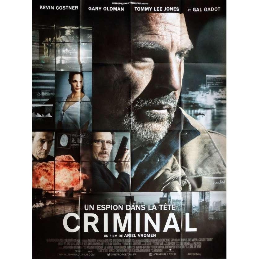 CRIMINAL Movie Poster 47x63 in. - 2016 - Ariel Vromen, Kevin Costner