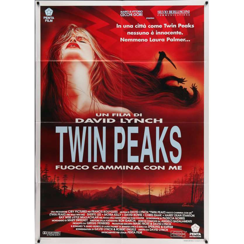 TWIN PEAKS Affiche de film 100x140 cm - 1992 - Sheryl Lee, David Lynch