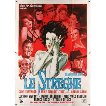 LES SORCIERES Affiche de film 140x200 cm - 1967 - Silvana Mangano, Pier Paolo Pasolini