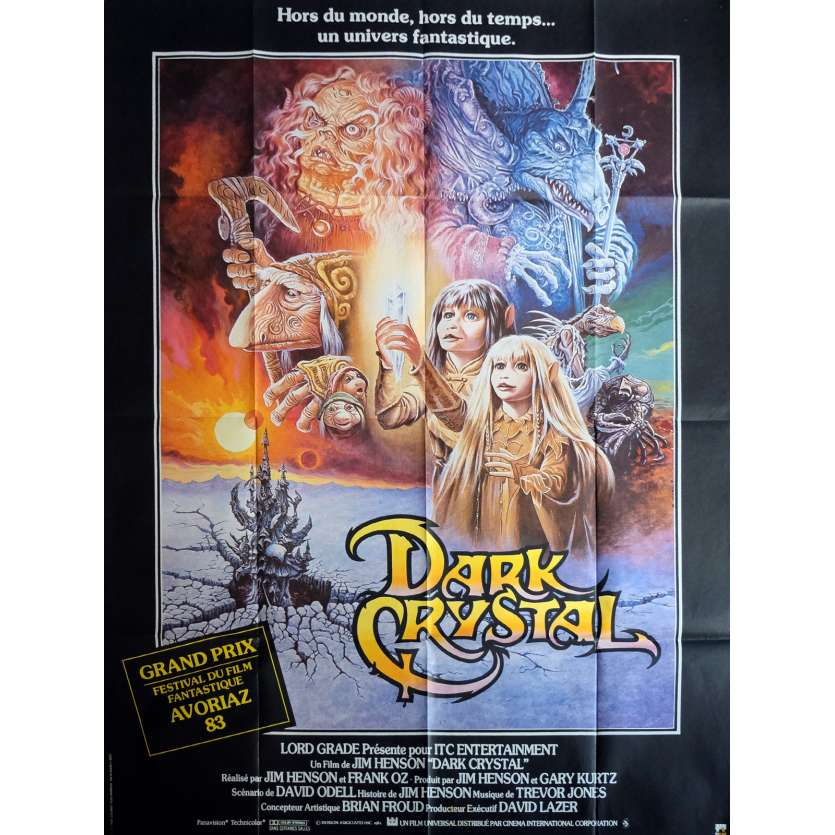 DARK CRYSTAL Affiche 120x160 FR '81 Jim Henson, Oz Movie Poster