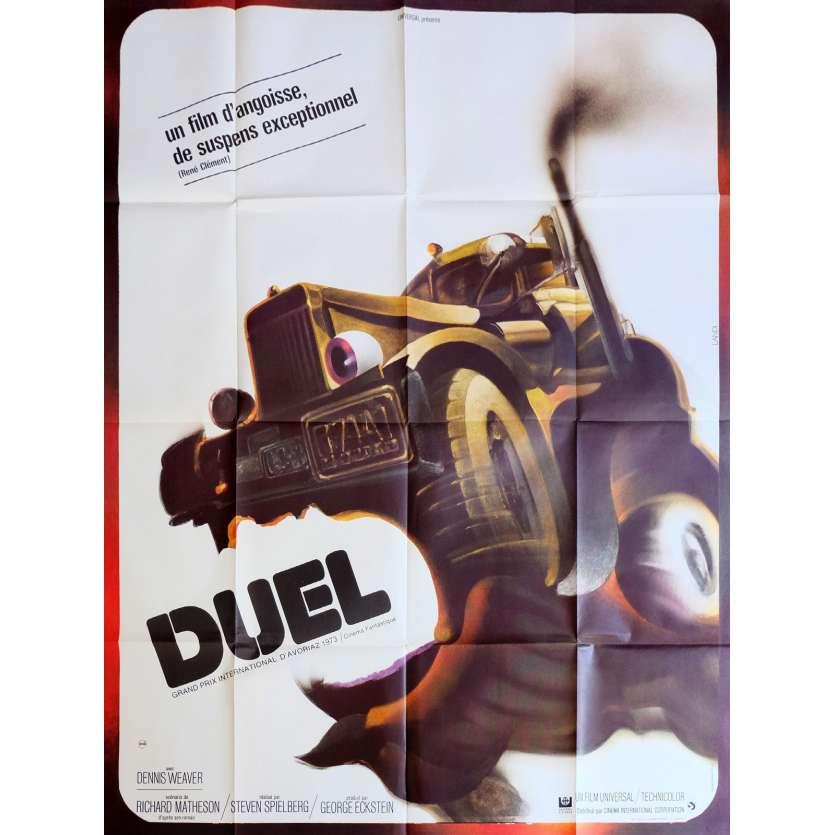 DUEL Affiche de film 120x160 cm - 1971 - Dennis Weaver, Steven Spielberg