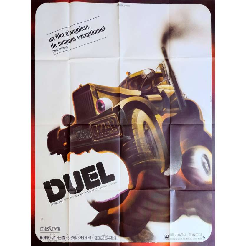 DUEL Movie Poster 47x63 in. French - 1971 - Steven Spielberg, Dennis Weaver