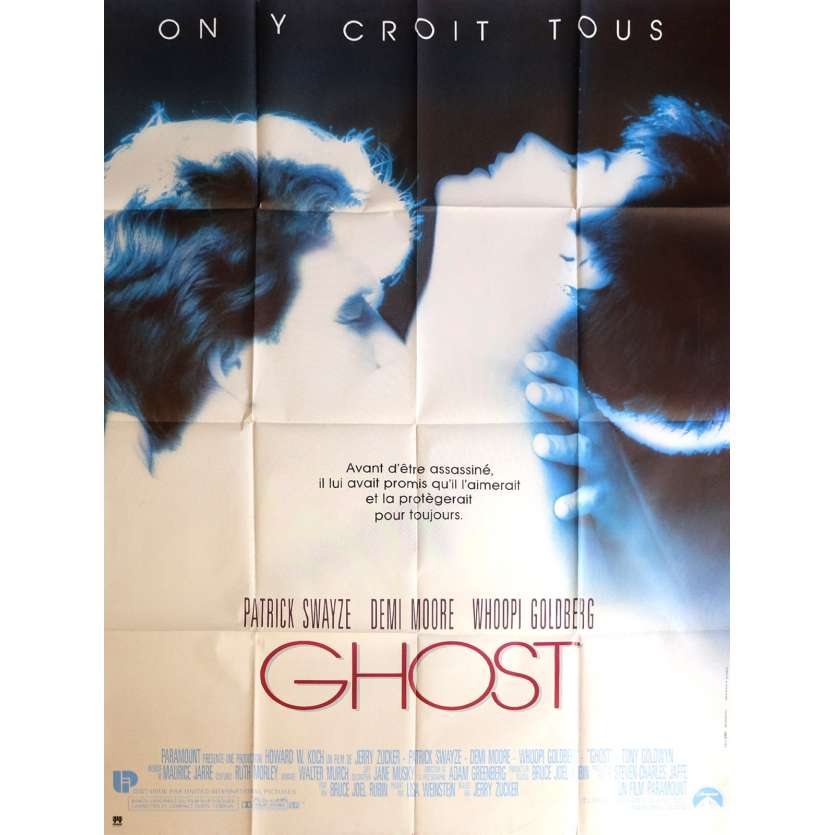 GHOST Affiche 120x160 - 1990 - Patrick Swayze, Demi Moore