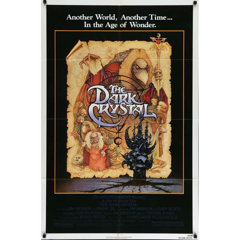 DARK CRYSTAL US Movie Poster 29x41- 1983 - Jim Henson, Franck Oz
