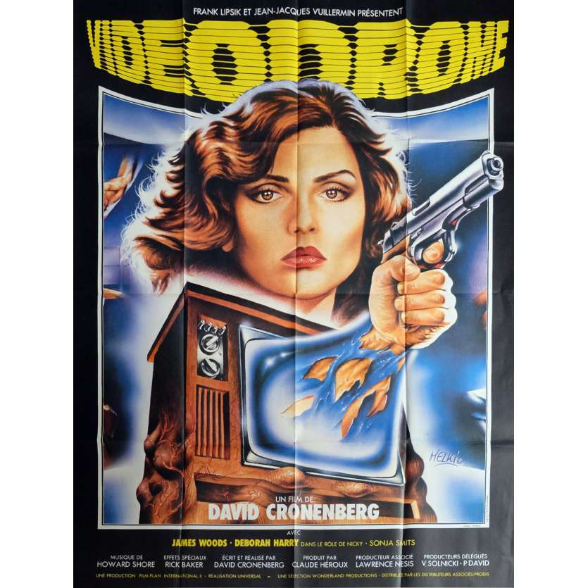 VIDEODROME Affiche de film 120x160 cm - 1983 - James Woods, David Cronenberg