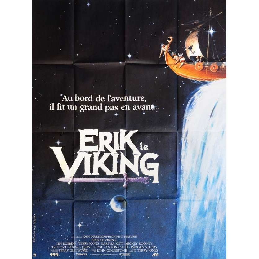 ERIK THE VIKING Movie Poster 47x63 in. - 1989 - Terry Jones, Tim Robbins