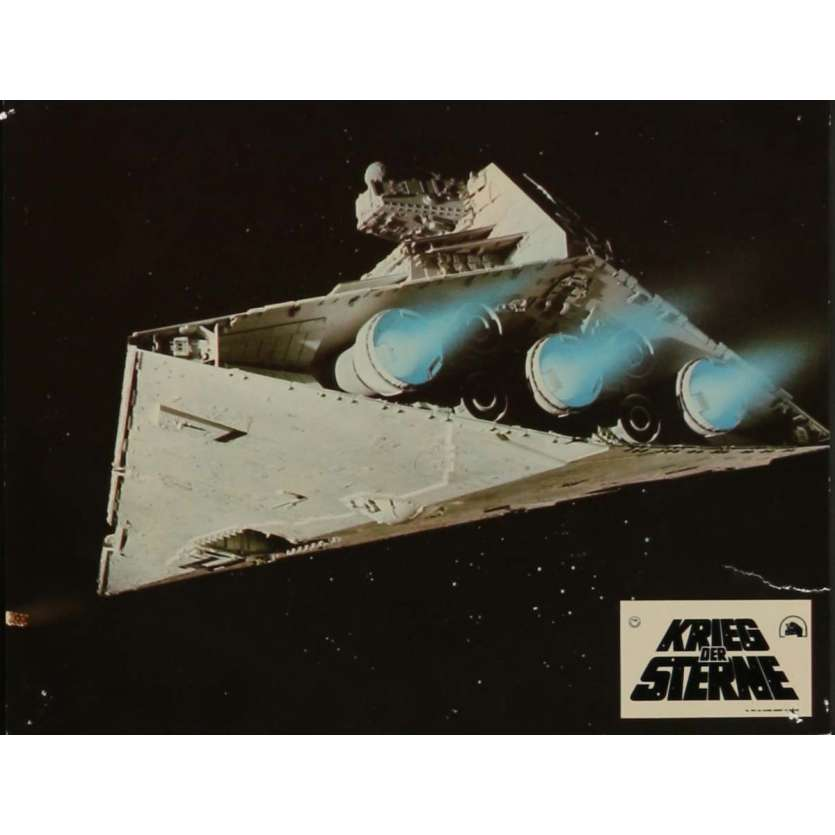 STAR WARS - A NEW HOPE Lobby Card N2 9x12 in. - 1977 - George Lucas, Mark Hamill
