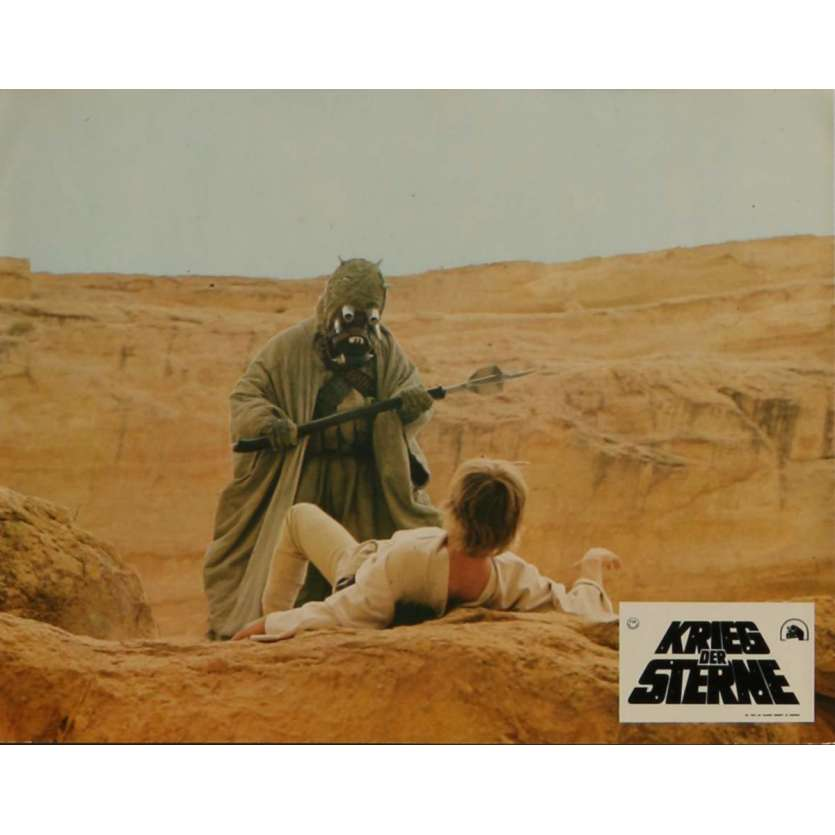 STAR WARS - A NEW HOPE Lobby Card N7 9x12 in. - 1977 - George Lucas, Mark Hamill