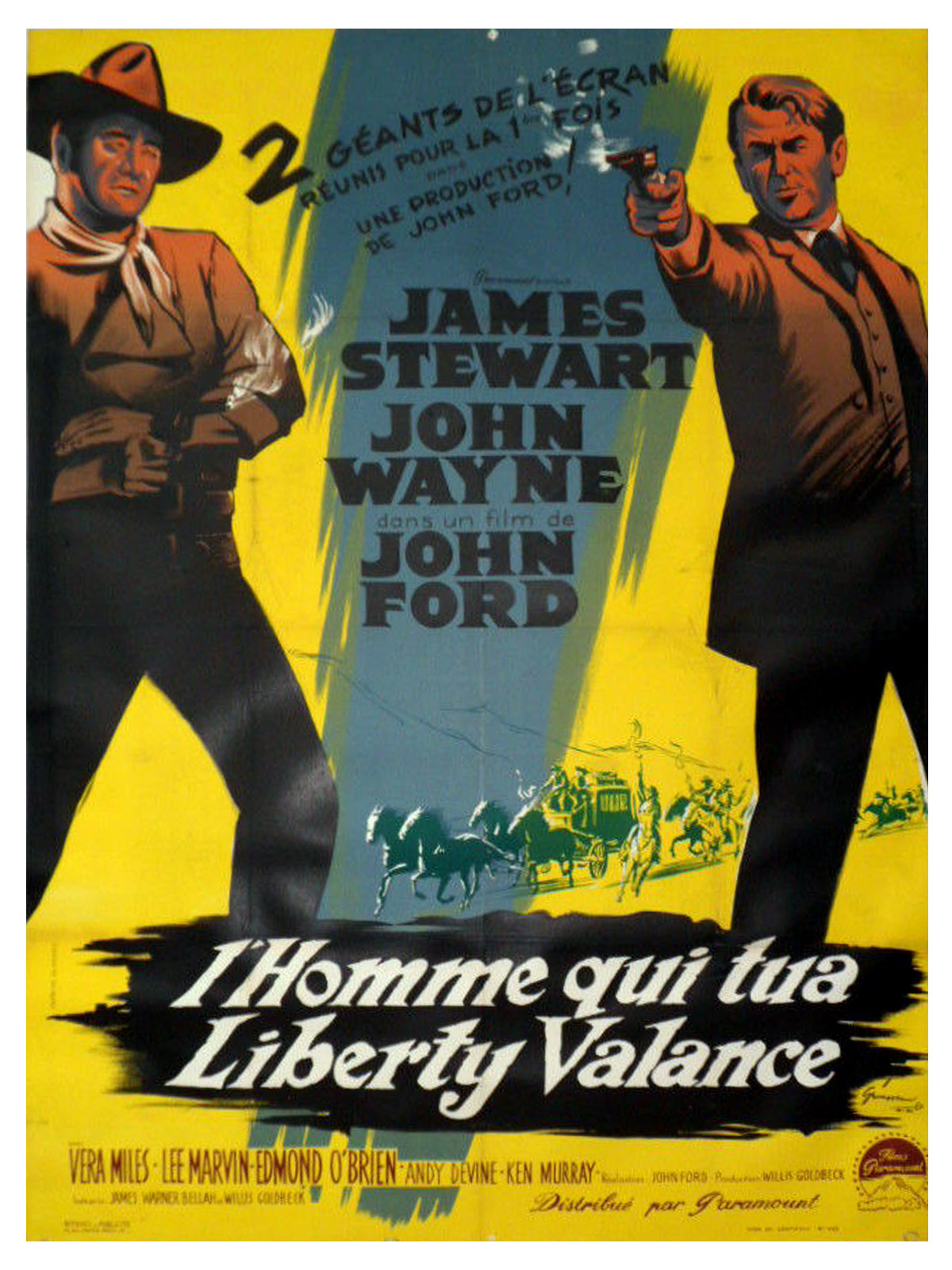 Votre top10 western The-man-who-shot-liberty-valance-linen-movie-poster-47x63-in-1962-john-wayne